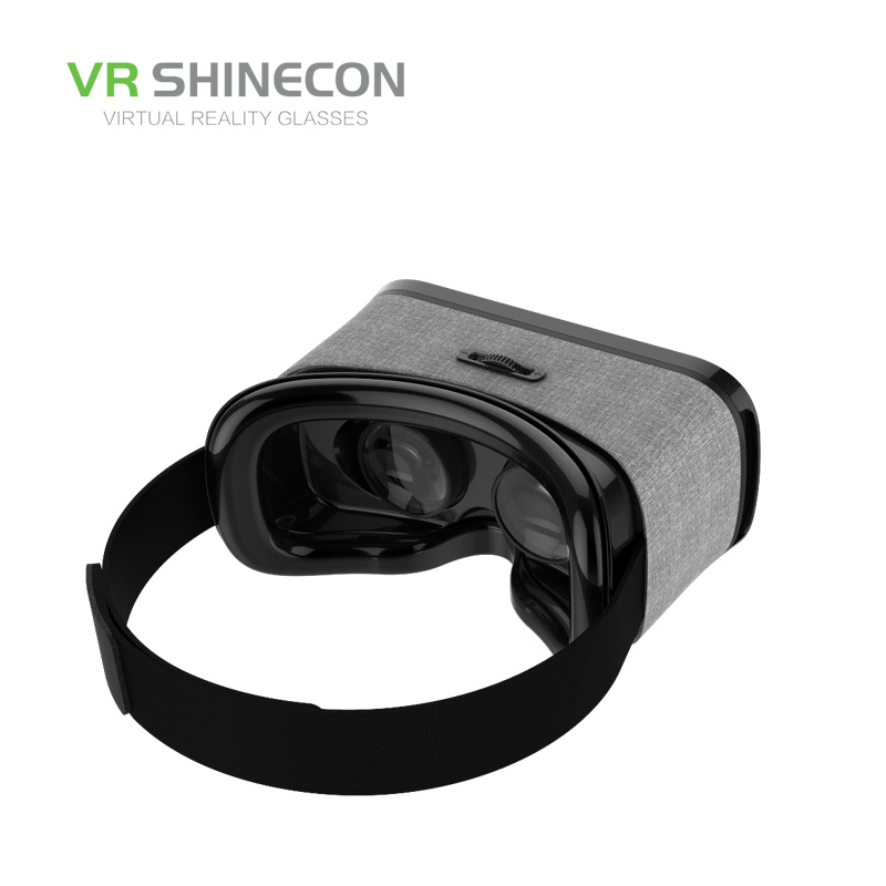 Shinecon VR Y005 Fasion Headset 3D Virtual Reality Helmet Smartphone Cardboard vrbox for 4.5-6′ Phone + Wireless Controller