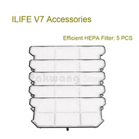 Original Robot Vacuum Cleaner Parts ILIFE V7 Efficient HEPA Filter 5 Pcs From The Factory