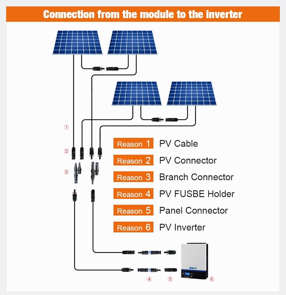 Free shipping 1 Pair MC4 Connector Solar Connector MC4 Solar Panel Connector Male & Female IP67 TUV 1000Vdc UL 600Vdc.2