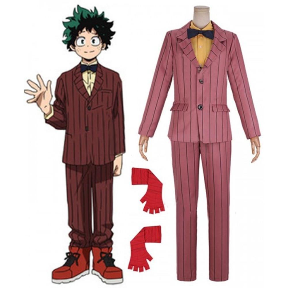 Cosplaydiy fait sur commande mon héros académique: deux héros Izuku Midoriya Deku Cosplay Costume Boku no Hero Akademia uniforme Costume L320