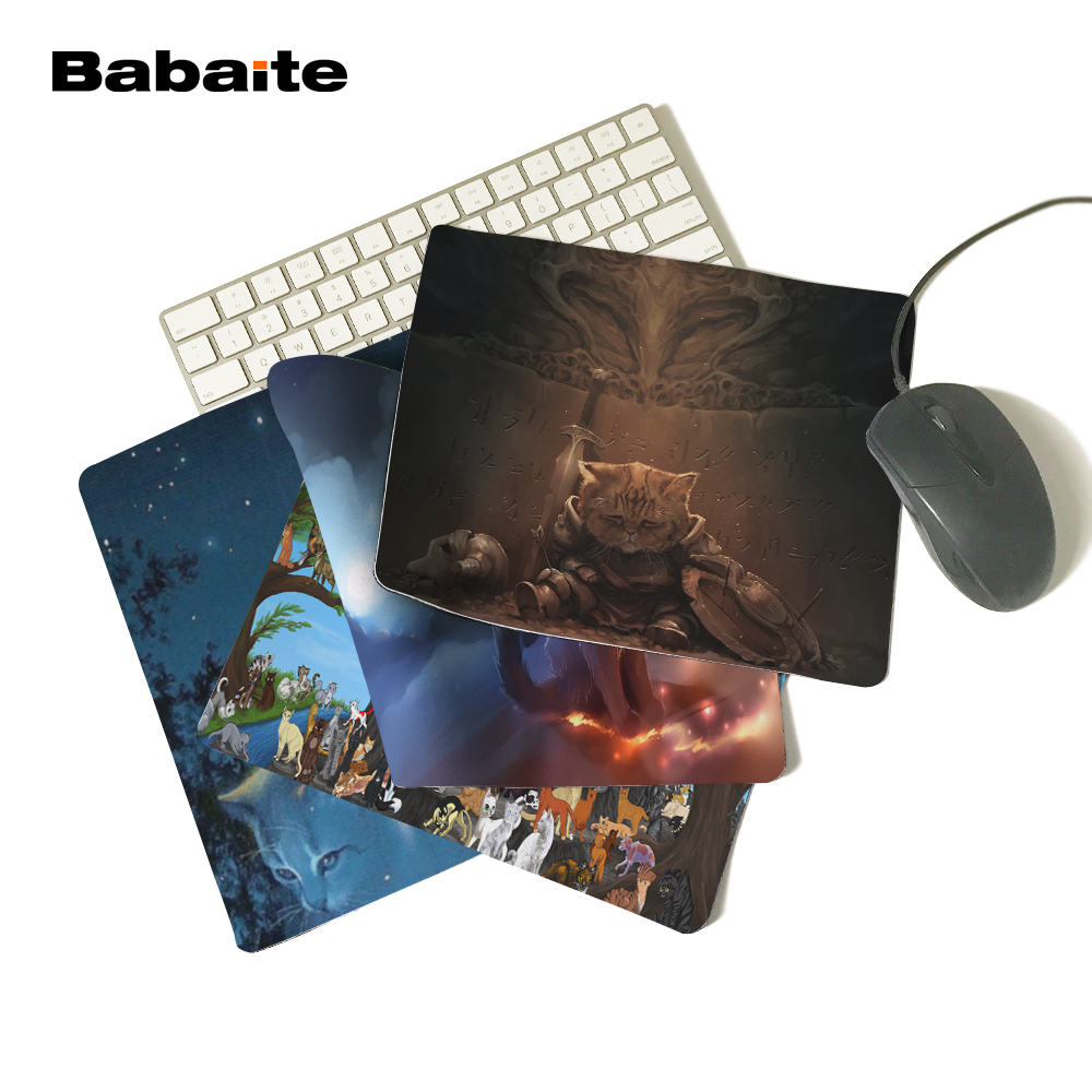 Babaite Rubber Mousepad Boy Gift Pad To Mouse Notebook Computer Gaming Mat WARRIOR CAT mouse pad Customized Rectangle Mousepad