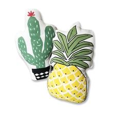 Amortiguador trasero suave Patrón Decorativo cojín Almohada Throw Pillows cojines de los asientos de Cactus Piña Regalo de Cumpleaños regalos de los niños