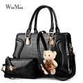 2 piece Set Famous Brand Women Bag Brand 2016 Fashion Women Messenger Bags Handbags PU Leather Female Bags