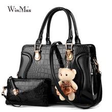 2 piece Set Famous Brand Women Bag Brand 2016 Fashion Women Messenger Bags Handbags PU Leather