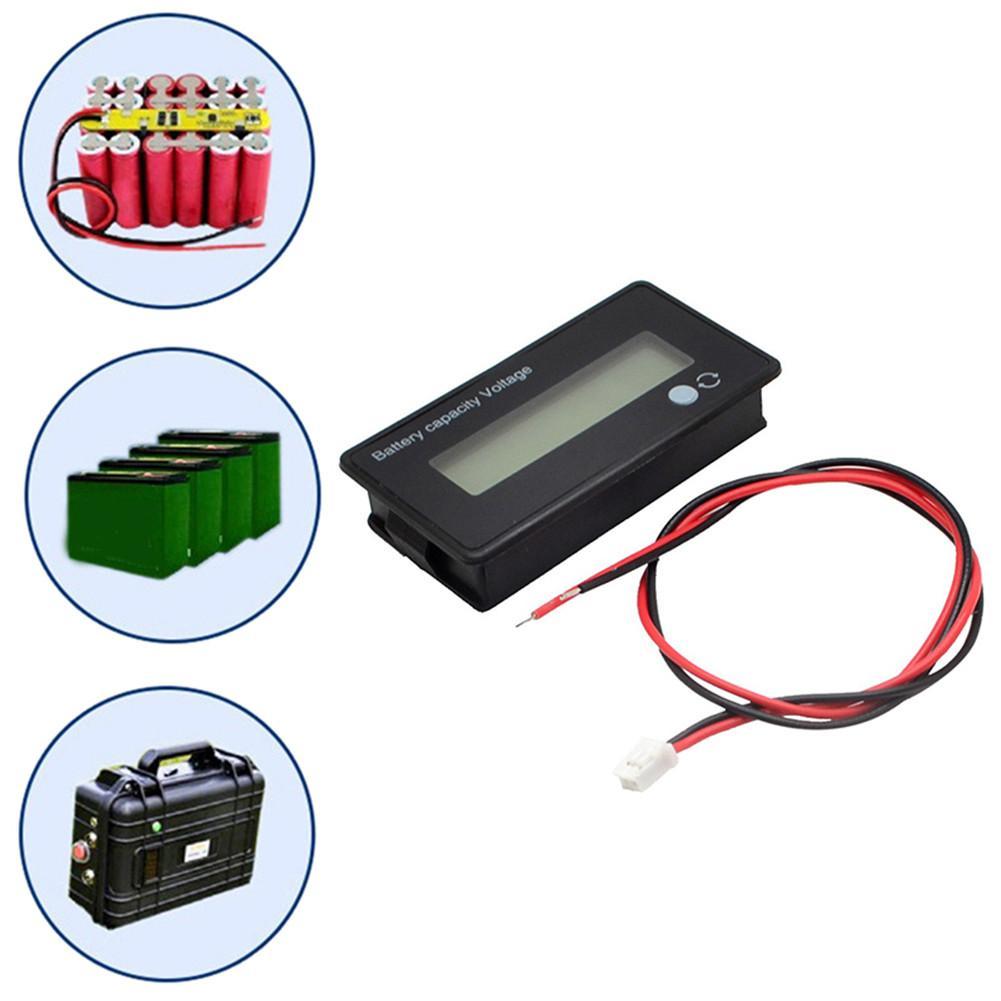 12V 24V 36V 48V LCD Acid Lead Lithium Battery Capacity Indicator Digital Tester