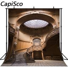 Capisco винтажный купол дворца лестница интерьер сцена фотографический фон Индивидуальные фотографии фоны для фотостудии