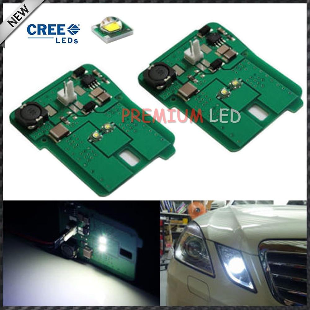 2pcs HID Matching Xenon White LED Parking Position Light For 2010-2013 Pre-LCI Mercedes E-Clase