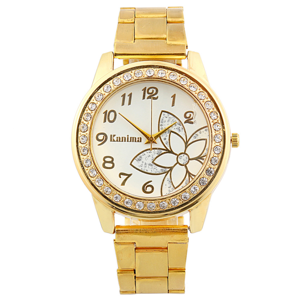 2017 New Gold Casual Quartz Watch Women Butterfly Stainless Steel Crystal Watches Relogios Feminino Ladies Clock Bayan Saat Hot  2016 new brand gold geneva butterfly casual quartz watch women crystal stainless steel dress watches relogio feminino clock hot
