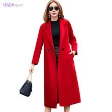 winter new fashion Cashmere Windbreaker coat High-end boutique long coat