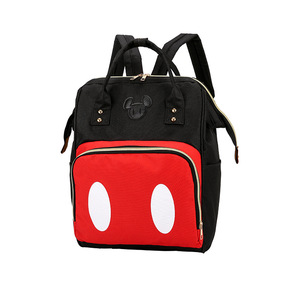 Image 5 - 2019 new Disney backpack Mickey mouse Minnie travel couple canvas shoulder bag large mother bag wear resistant student bag