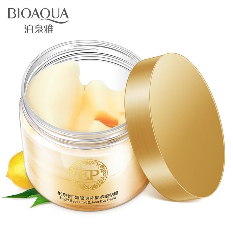 BIOAQUA 60pcs/bottle Crystal Collagen Eye Mask 120ml Eye Patches For The Eye Anti-Wrinkle Remove Black Eye Face Care Mask