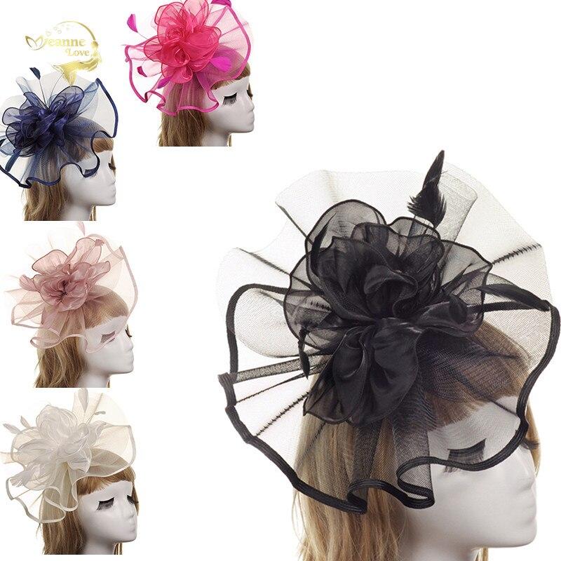 Tocados Sombreros Bodas Colours Wedding Bridal Hats Headpieces Bride Blue Fascinator Wedding Party Accessories For Women