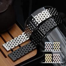 Hombres y mujeres acero inoxidable reloj Band 20 mm 22 mm Metal venda de reloj correa extremo recto pulsera Links Links Solid correas de reloj