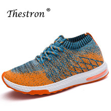 Thestrin Mens Mesh Sneakers Breathable Walking Shoes Spring Autumn Man Running Light Gray Dark Jogging Male