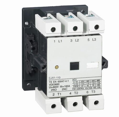 CJX1-110/22(5022) AC contactor magnetic contactor 110A a75 30 ac contactor 3pole1no 1nc magnetic contactor