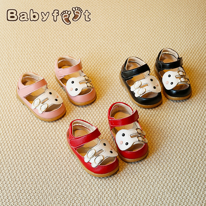 Babyfeet children sandals flat shoes 1-3 years old baby child kids Little girl infant Cute Rabbit princess Leather Toddler shoes babyfeet newborn baby boy shoes toddler sandals leather non slip kids shoes 0 1 years old boy girl children infant infantile