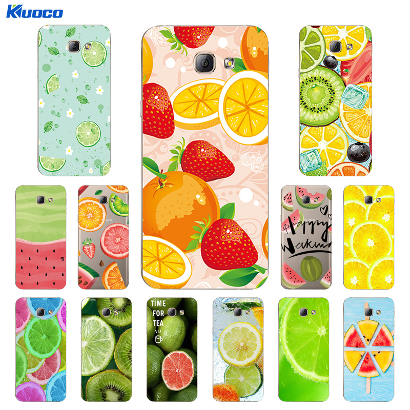 For Samsung Galaxy A8 2016 Shell for J5 2015  2016  2017 Case for J500  J510  J530 Cover TPU Fruits Party Printing Coque