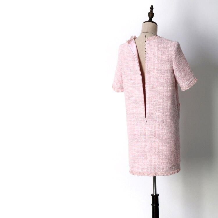 Nieuwe QZ8617030: 2018 roze, dunne, zachte, breezes, kleine geurende wind, zomer jurken. - 3