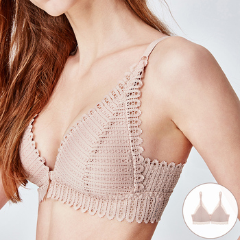 Front Closure Push Up Bras For Women Seamless Thin 1
