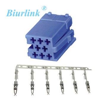 Biurlink Voor Volkswagen VDO Mini ISO Connector Plug Blue Contacten Mini ISO Micro Timer Crimp