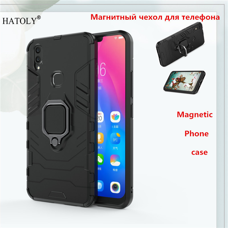 Vivo V9 / Y85 Magnetic Phone Case For Vivo V9 Back Cover TPU+ PC Bumper Case Cover Vivo V9 Ring Holder Phone Capa Coque Funda