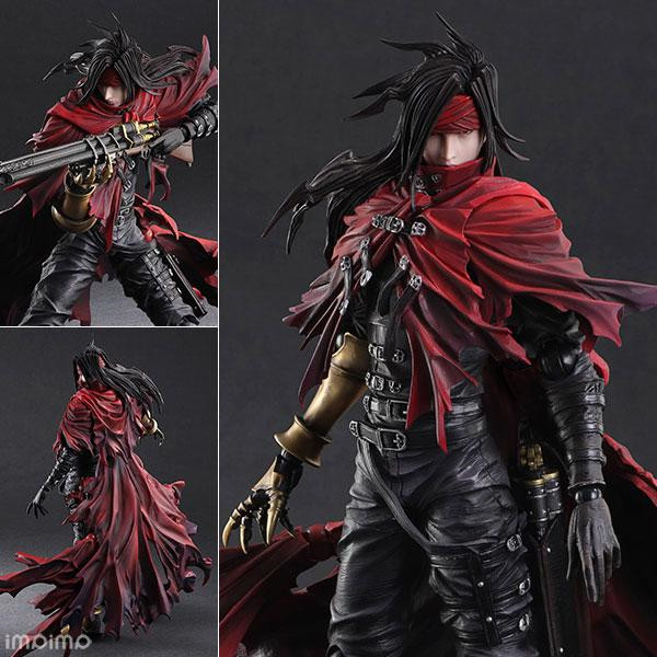 Final Fantasy  Play Arts Kai Vincent Valentine Turks PVC movable collection of toy gifts  Figurine 27cm