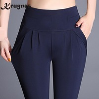 Women Plus Size 6XL Harem Pant Lady Full Length Leggings Sexy High Waist Spring Autumn Trousers