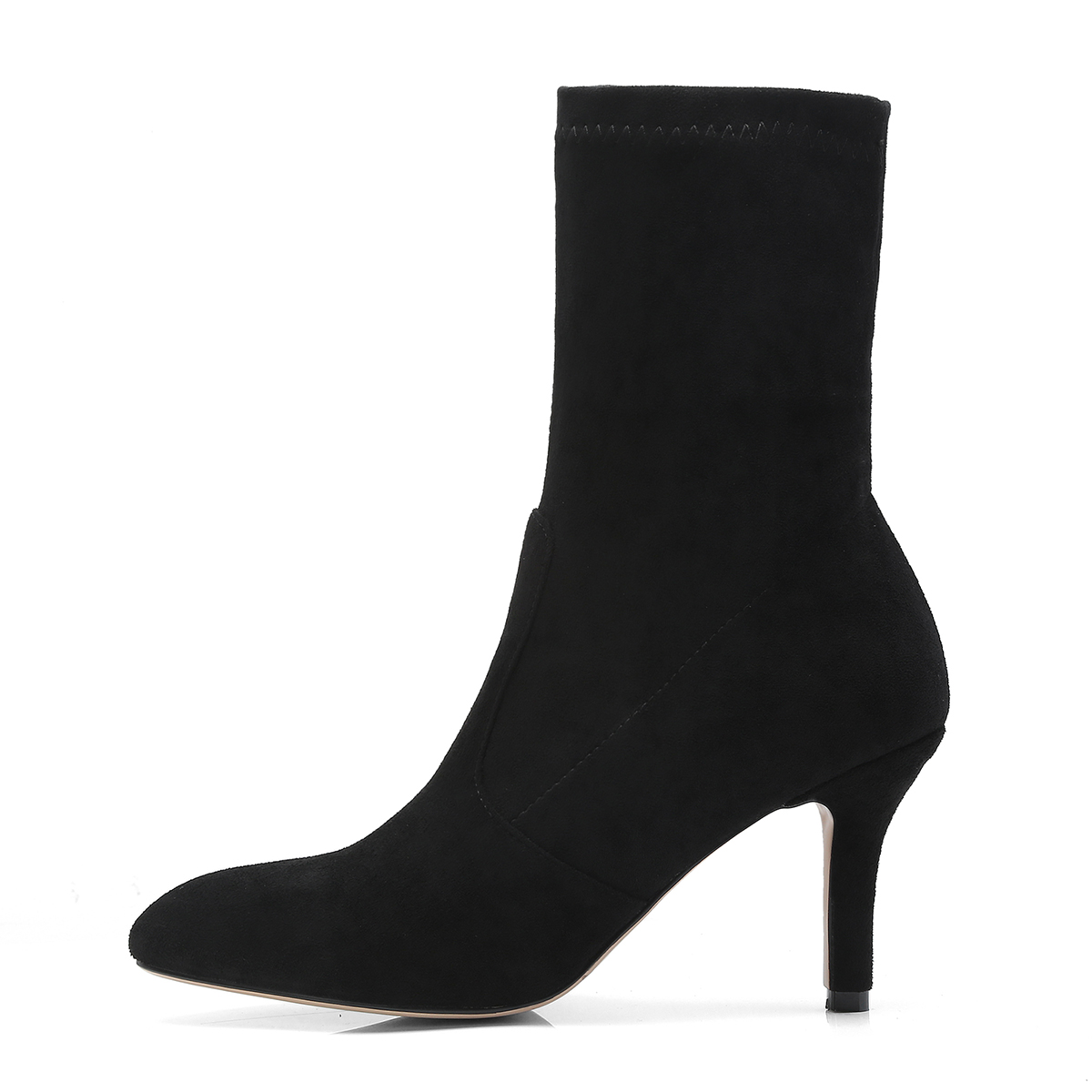 Beige Automne 43 Troupeau Hauts 2018 Femmes Rouge Plus Chaussures Bottes Cheville Talons Mince Mode Hiver Taille Sexy noir Bout À Pointu vin U0q0Pwad
