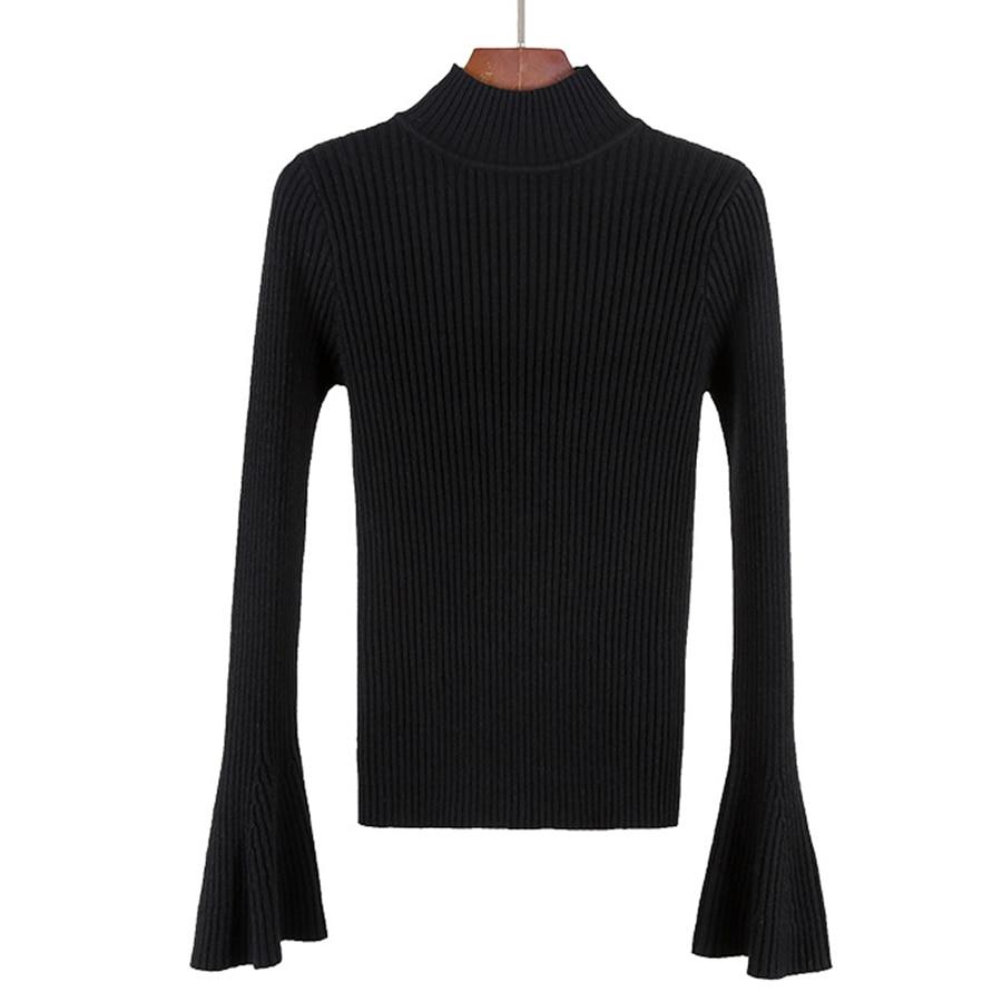Winter Half Turtleneck Sweater Women Pullover Ladies Long Sleeve ...