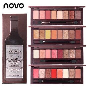 NOVO Conjunto de Maquiagem Da Marca New Red Wine 8 Cor Da Paleta Da Sombra Shimmer Matte Sombra Em Pó À Prova D' Água Cosméticos de Textura Sedosa