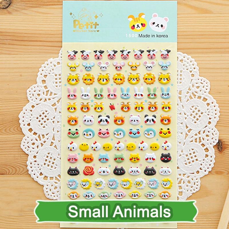 SST 1 Sheet Small Animals 3D Bubble Sticker Decoration Decal DIY Diary Album Scrapbooking Kawaii Korea