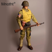 Mnotht 1/6 Scale 30cm American soldier Military model weapon Model Toys Hobbies With Body/Clothes Boy Holiday Gift m3