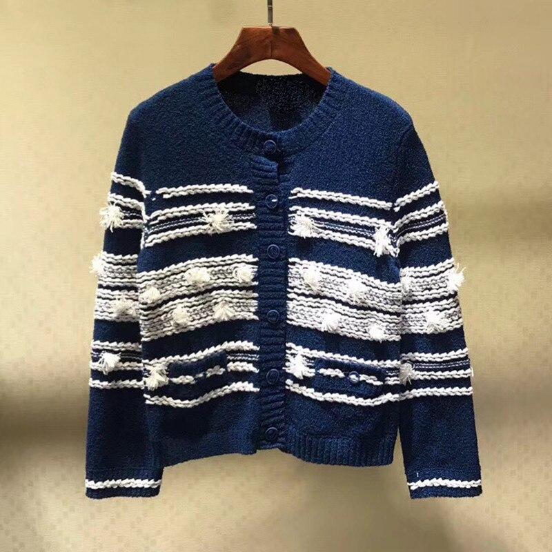 Женский новый свитер кардиган элегантный круглый вырез длинный рукав свитер кардиган 2019 модный однобортный Кардиган