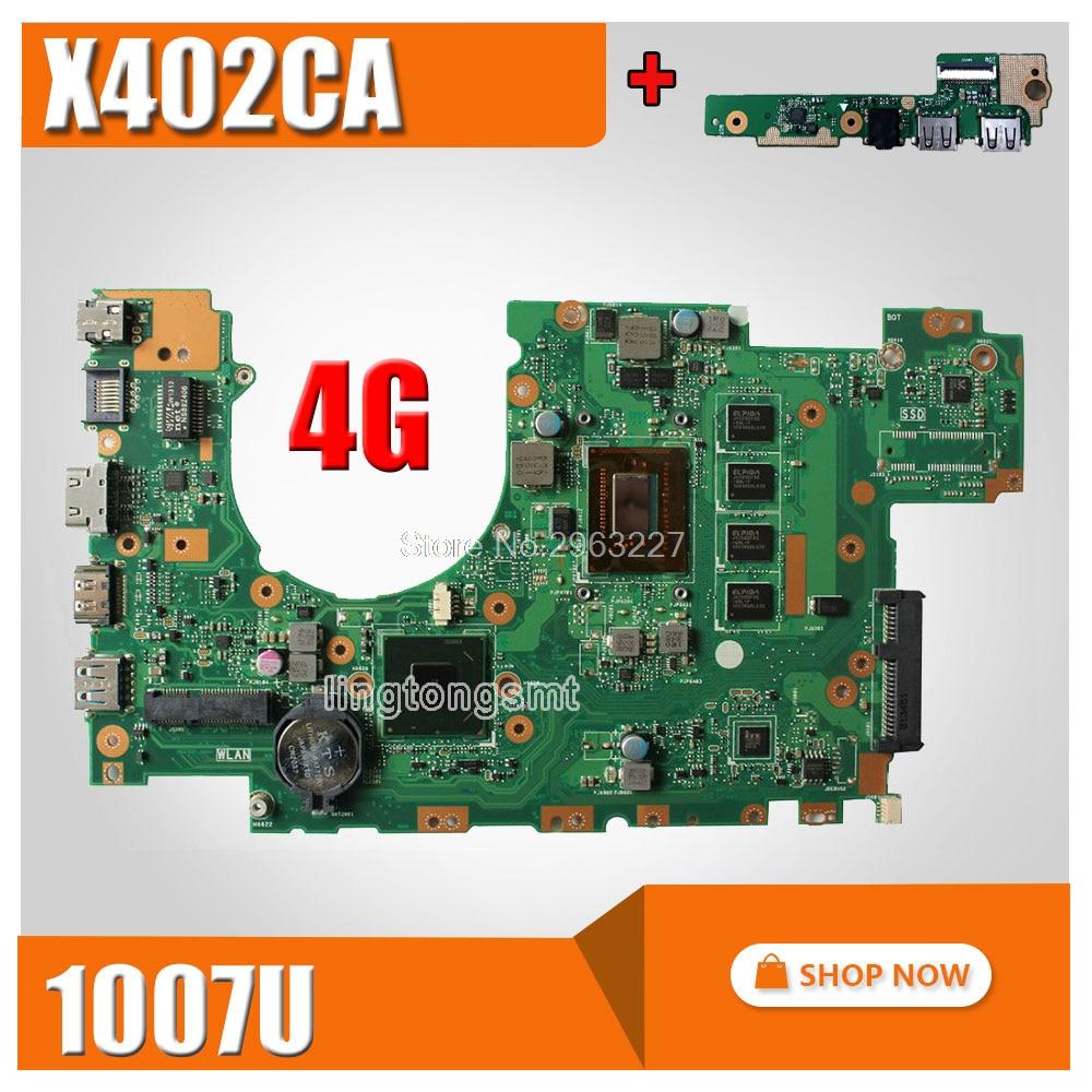 send board + X402CA Motherboard REV2.1 1007u cpu 4GB For ASUS X402CA Laptop motherboard X402CA Mainboard X402CA Motherboard hot for asus x551ca laptop motherboard x551ca mainboard rev2 2 1007u 100% tested new motherboard