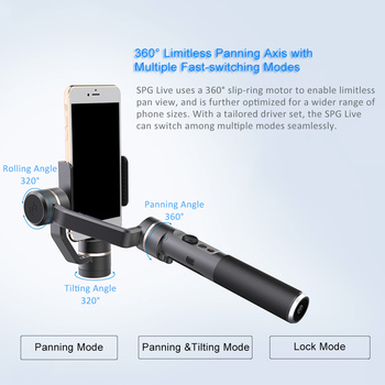 SPG Live 3 Axis Smartphone Stabilizer Handheld Gimbal New Live Steaming Vision for iPhone 7 7+ 6 6+ Samsung Huawei Xiaomi iphone 6