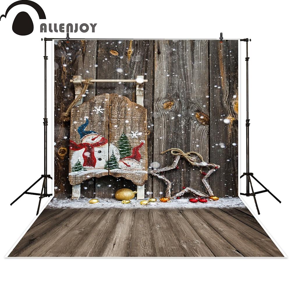 Allenjoy photo backdrops Christmas snowman star wooden wall newborn photo studio photocall backdrop photography allenjoy christmas photography backdrop wooden fireplace xmas sock gift children s photocall photographic customize festive