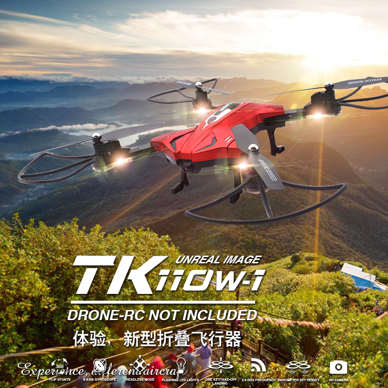 App Control NEW Skytech TK110HW Wifi FPV 720P HD Camera Foldable RC Quadcopter Drone & Altitude Hold Function jjrc h39wh h39 foldable rc quadcopter with 720p wifi hd camera altitude hold headless mode 3d flip app control rc drone