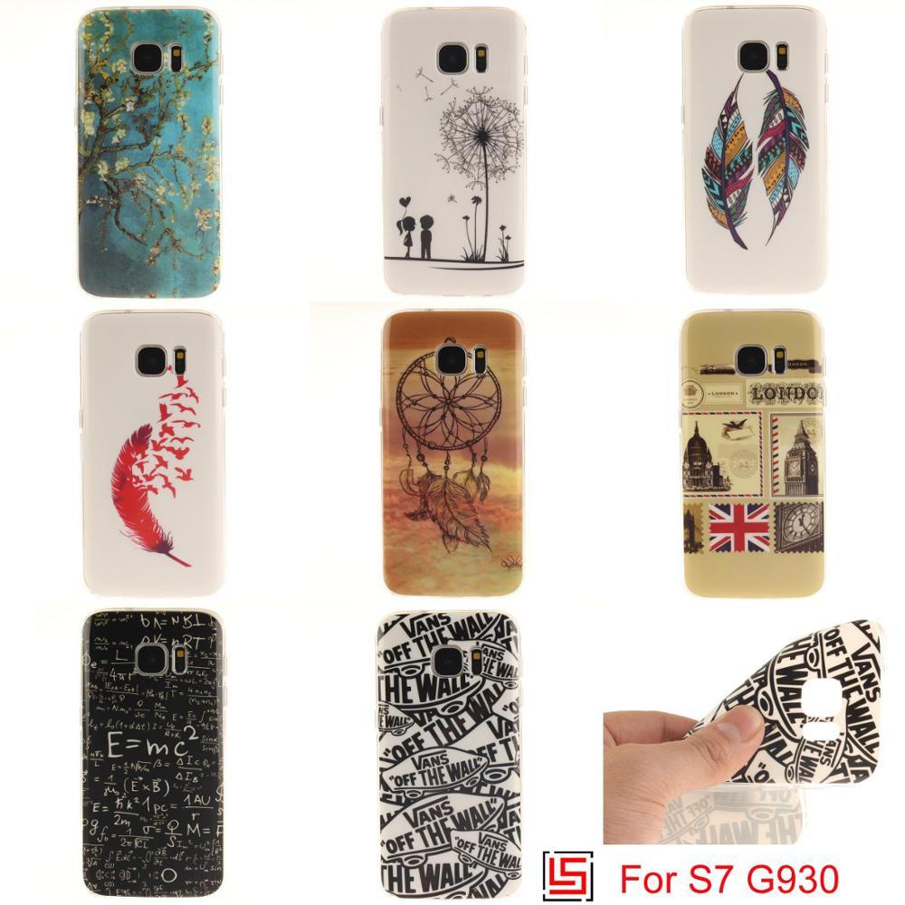 Cheap Ultra Thin TPU Silicone Soft Phone Mobile Cell Case Cover Bag For Samsung Samsug Sansung Samsuns Galaxy S7 SM-G930 Tree