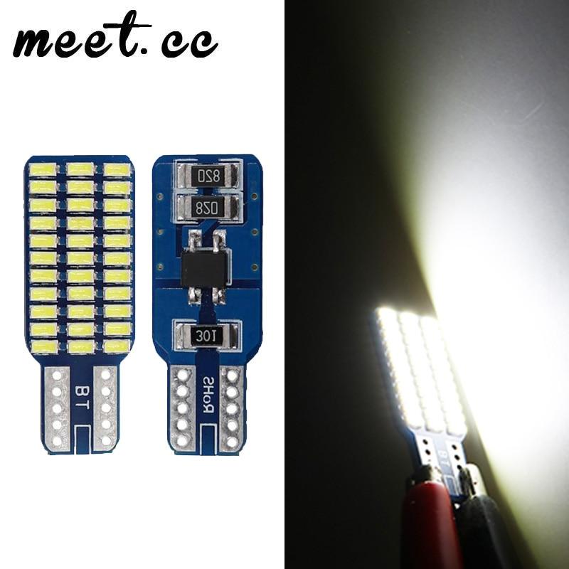 Meet.cc 2PCS Car Lights T10 33 Leds 3014 Smd T10 Led Bulb Error Free W5W Side Marker License Plate Lights W5W Led Bulb