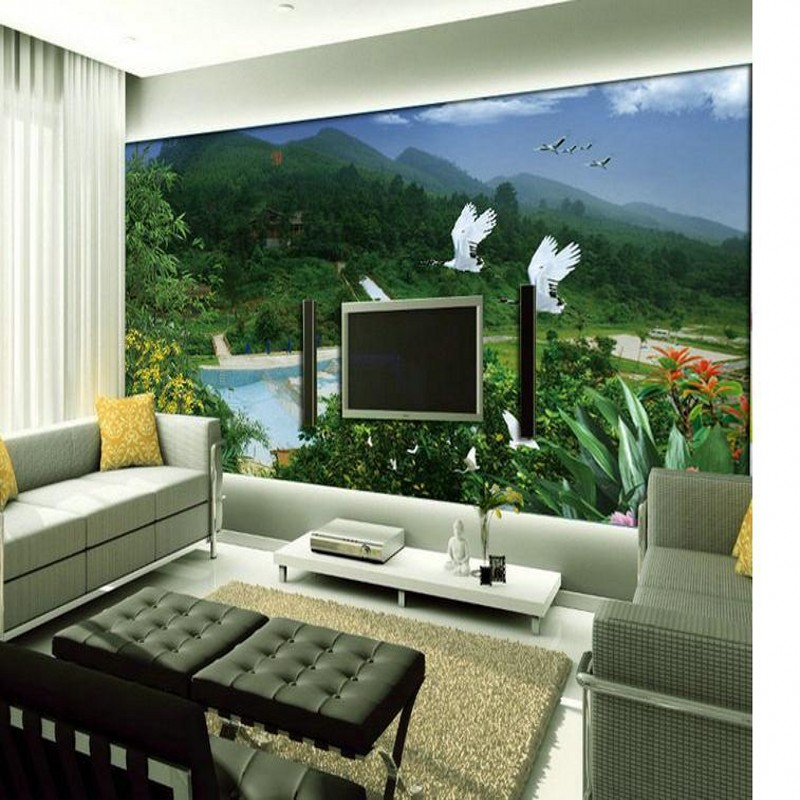 beibehang Large living room sofa 3D stereoscopic TV wall mural wallpaper background green wallpaper for wall 3d papel de parede beibehang customize universe star large mural bedroom living room tv background wallpaper minimalist 3d sky ceiling wallpaper