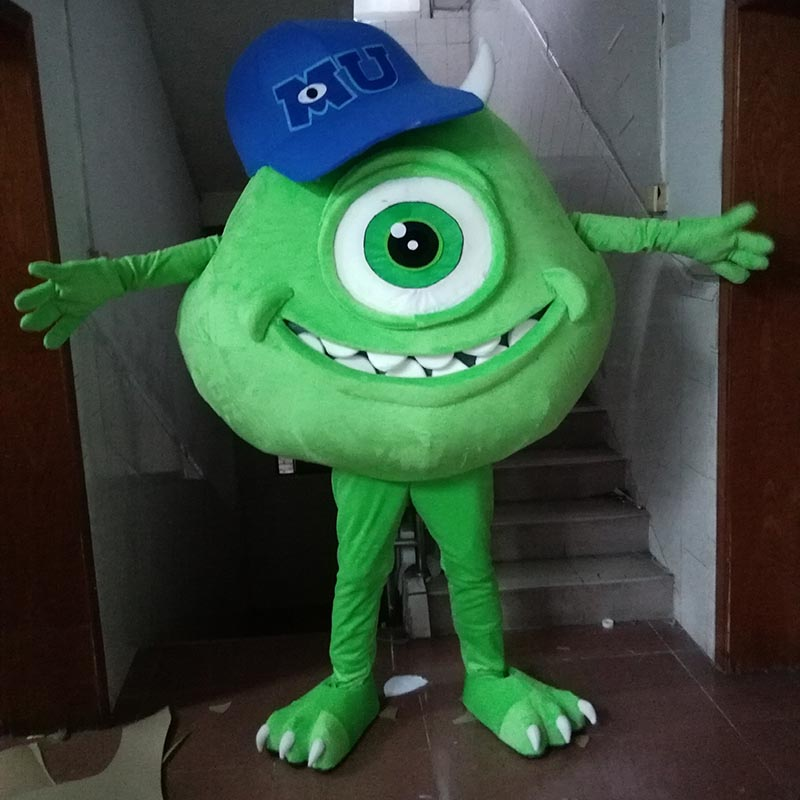 big eye monster mascot costume monster green Cloth Mascot Costume For Easter Caracteres monster for Adult Fantasia Adulto
