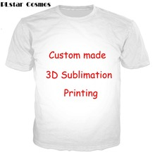 PLstar Cosmos Create Your Own Customer Design Anime/Photo/Star/You Want/Singer Pattern/DIY T-Shirt 3D Print S T Shirt Drop ship