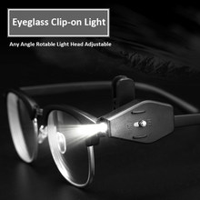 Tanbaby 1 Pair LED Eyeglass Clip On Night Light Book Reading Lamps Adjustable Led Bulbs Portable LED Light For Repairing Fishing(China)