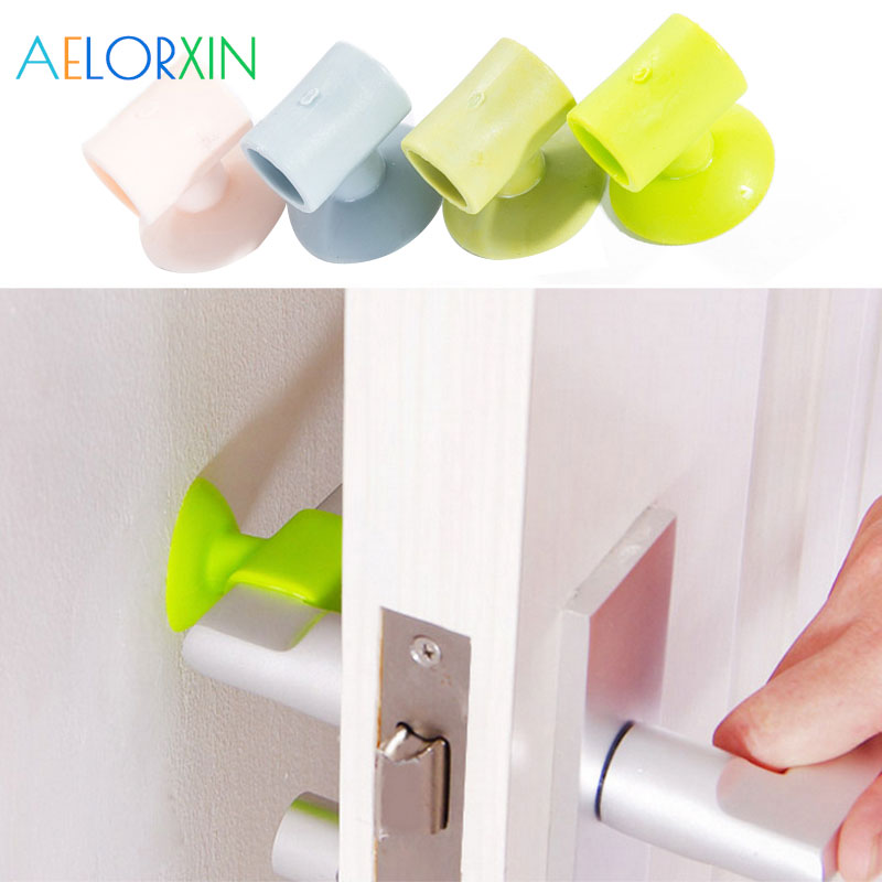 3Pcs/Lot Silicone Door Sucker Handle Suction Cup Anti-collision Pad Mute Reduce Noise Ba ...