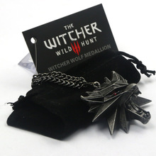 The Witcher Pendant Necklace 2015 Medallion Wizard 99% Original The Witcher 3 Necklace Wolf Hunt 3 Pendant include 1 Bag 1 Tag