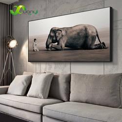 Будда Современная живопись холст плакаты на скандинавскую тему и принты Zen украшение для дома с изображением животных слон религия книги