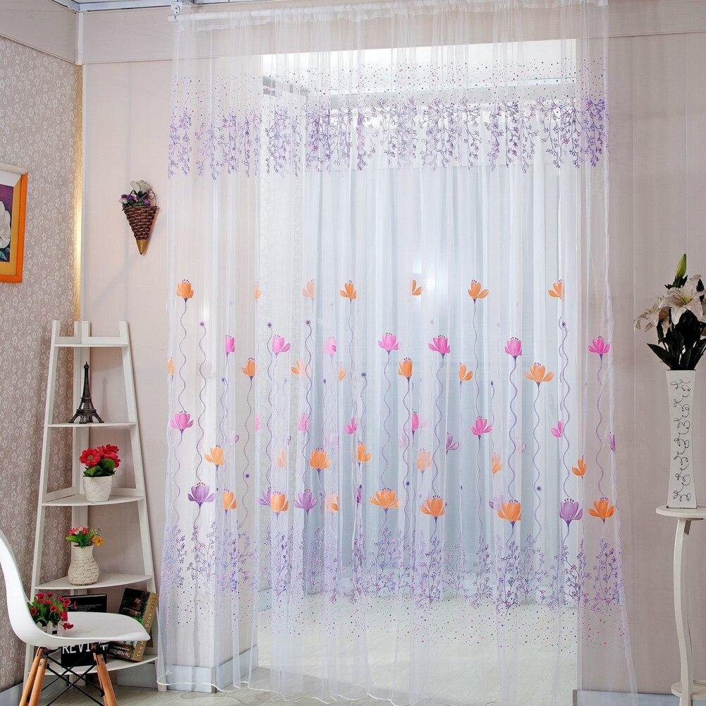 Decoraci n del hogar cortinas cortinas de ventana escarpada para sal n dormitorio cocina moderna - Decoracion cortinas dormitorio ...