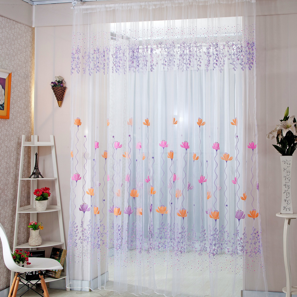 Home decor drapes sheer window curtains for living room for Home drapes and curtains