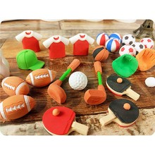 3pcs Creative direct marketing rubber football basketball olive styling eraser student prize