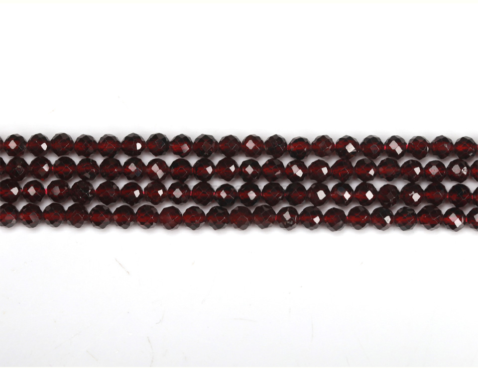 """2MM BRIZILLIAN RED GARNET GEMSTONE FACETED ROUND 2MM LOOSE BEADS 16/"""""""